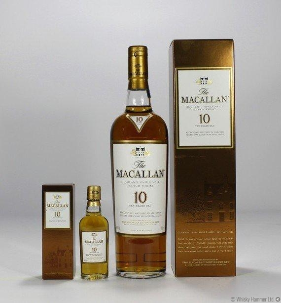 Macallan - 10 Year Old (Sherry Oak) + Mini