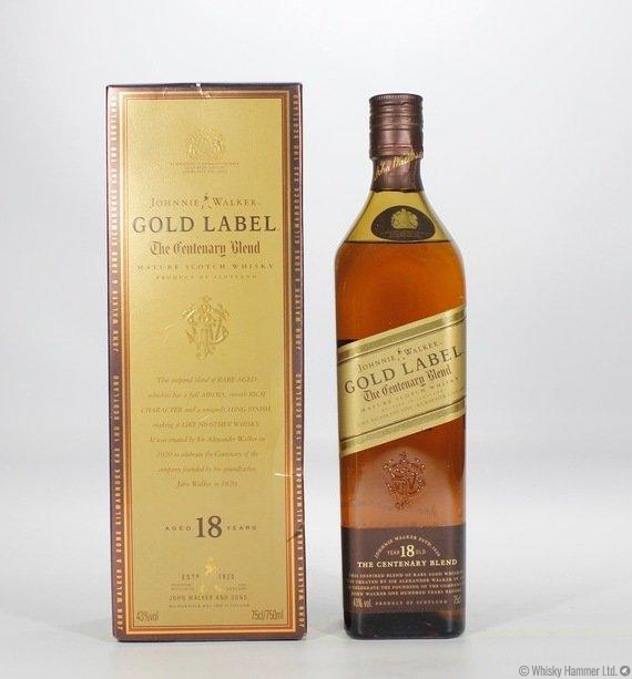 johnnie walker - gold label 18 year old (centenary blend) auction