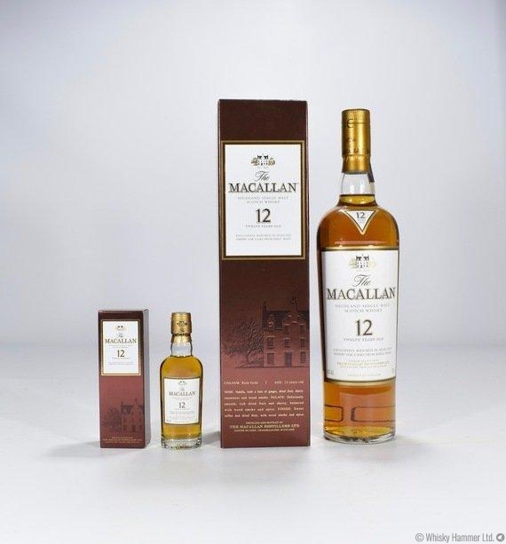 Macallan - 12 Year Old with Miniature (Sherry Oak)