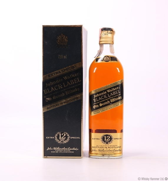 Black Label Price >> Johnnie Walker 12 Year Old Black Label 1980s