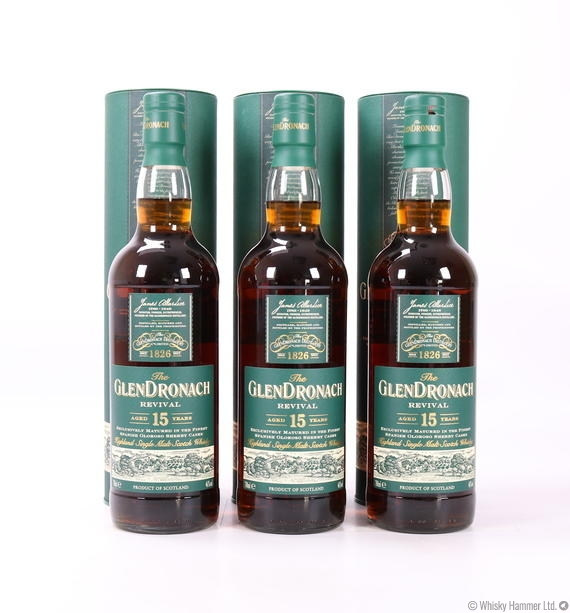 Glendronach - 15 Year Old (Revival) x 3 Bottles
