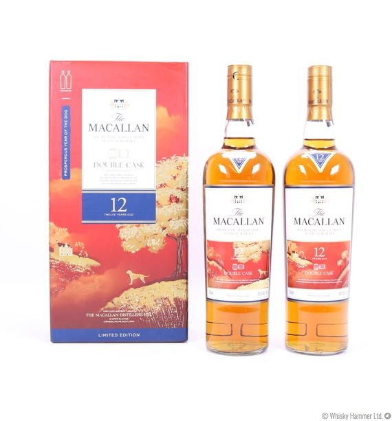 Macallan - 12 Year Old ('Year of the Dog' Double Cask) x 2 bottles
