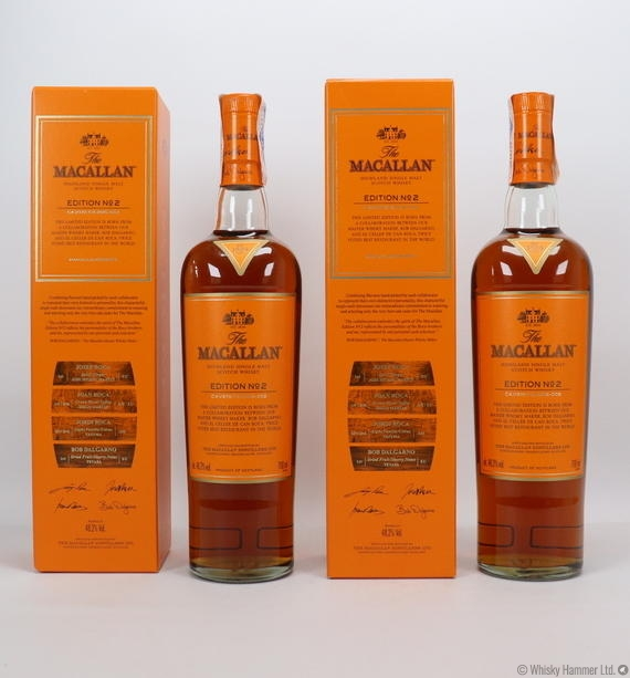 what is the size of a master bedroom macallan edition no 2 2 bottles auction whisky hammer 21304