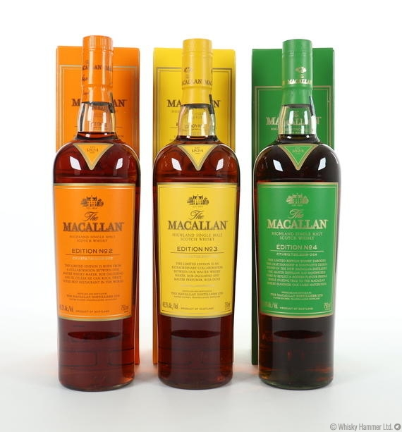 Macallan - Edition No. 2, 3 & 4 (US Imports) 3 x 75cl