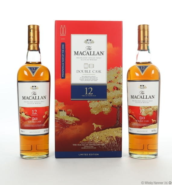 Macallan - 12 Year Old ('Year of the Dog' Double Cask) 2 x 70cl bottles