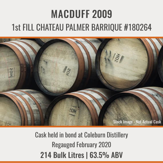 Macduff - 2009 1st Fill Chateau Palmer Barrique #180264 | Held In Bond