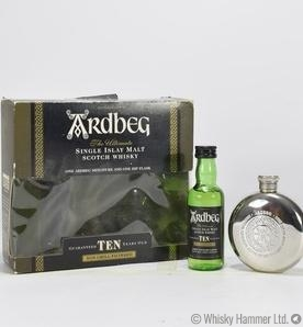 Ardbeg - 10 Year Old Miniature and Hip Flask