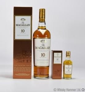 Macallan - 10 Year Old & Miniature (Sherry Oak)