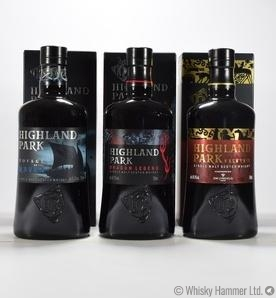 Highland Park - Valkyrie, Dragon Legend, Voyage of the Raven