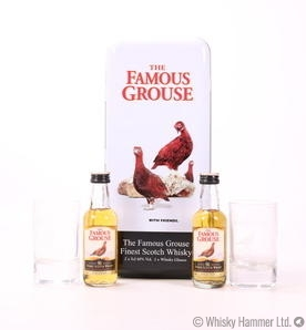The Famous Grouse - Miniature Set + Glasses in Presentation Tin