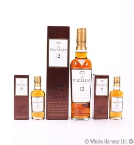 Macallan - 12 Year Old (Sherry Oak) 35cl with 2 Miniatures 5cl