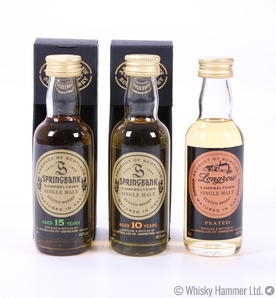 Springbank & Longrow - 3 x 5cl Miniatures
