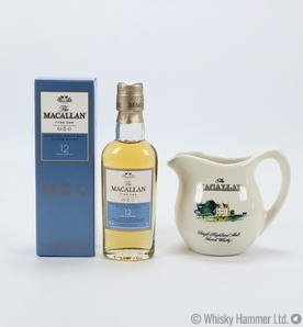 Macallan - 12 Year Old (Fine Oak) Miniature + Water Jug