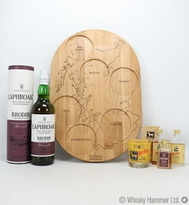 Laphroaig - Brodir (Port Wood - Batch #1) White Horse - 3 Miniatures & Whisky Board