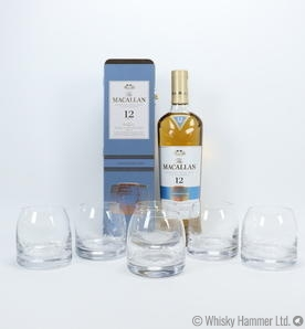 Macallan - 12 Year Old (Fine Oak, Triple Cask) Limited Edition + 6 glasses