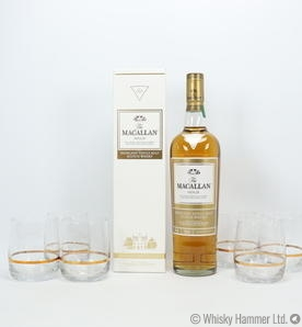 Macallan - Gold (1824 Series) + 6 Glasses