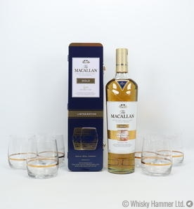 Macallan - Gold (Double Cask) Limited Edition + 6 Glasses