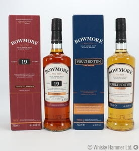 Bowmore - Vault Edition + 19 Year Old (French Oak Barrique) 2 x 70cl bottles