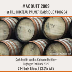 Macduff - 2009 1st Fill Chateau Palmer Barrique #180264 | Held In Bond Thumbnail